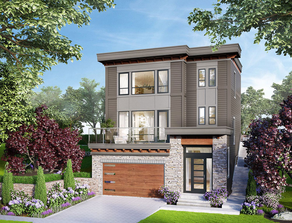 Artist rendering of 3-story home in Timberlane subdivision