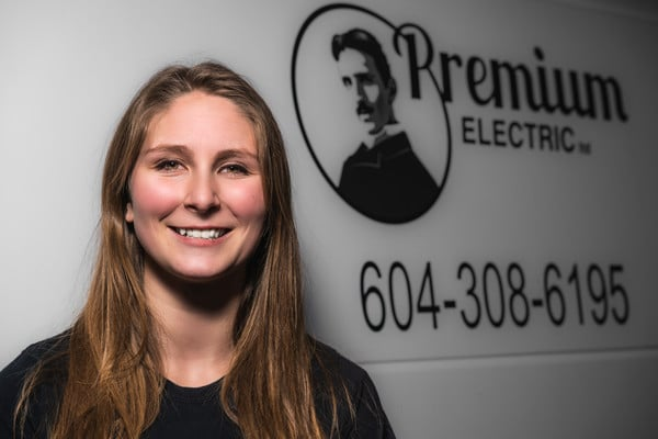 Headshot of Kayla from Premium Electric, Abbotsford